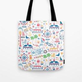 Newport Harbor Doodles Tote Bag