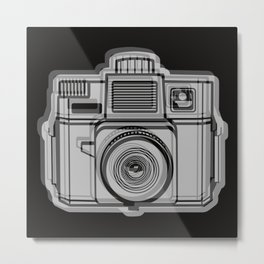 I Still Shoot Film Holga Logo - Black Metal Print
