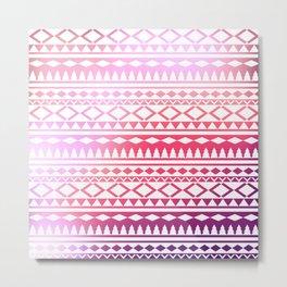 pink tribal ornament Metal Print