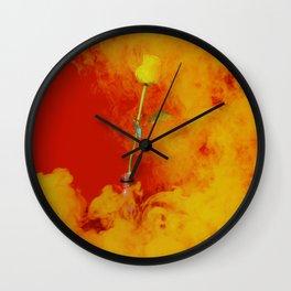 smokey rose Wall Clock