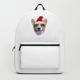 Merry Corgmas Merry Christmas Corgi Dog Santa Hat Backpack