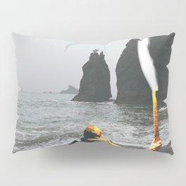 Wanderer at the Washington State Beach Pillow Sham
