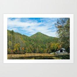 Great Smoky Mountains - Abandoned Barn Art Print