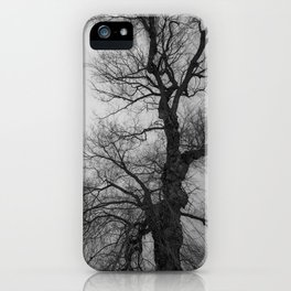 Nature Photography Weeping Willow | Lungs of the Earth | Black and White iPhone Case