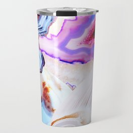 Agate, a vivid Metamorphic rock on Fire Travel Mug