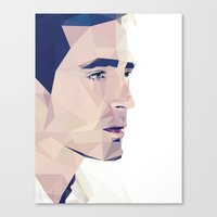 lee pace Canvas Prints featuring Lee Pace - Low Poly by khitkhat