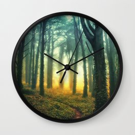 Radiant Forest Wall Clock