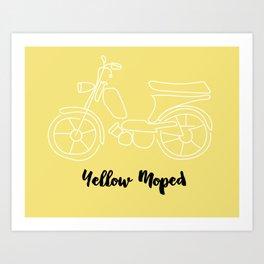Yellow Moped Art Print