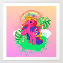 g1 my little pony tropical Pina Colada Art Print