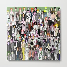 Tokyo Punks - Retro Green Metal Print