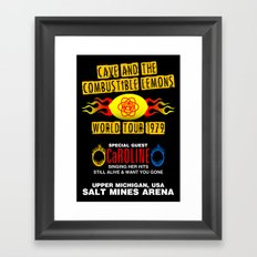 Cave & The Combustible Lemons Framed Art Print