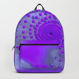 violet and blue spirals Rucksack