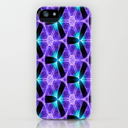 Chainlink Pattern (purple) iPhone Case