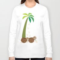 coconut wishes Long Sleeve T-shirts featuring Coconut Twins by HK Chik