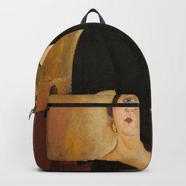 Amedeo Modigliani - Madame Amédée (Woman with Cigarette).jpg Backpack