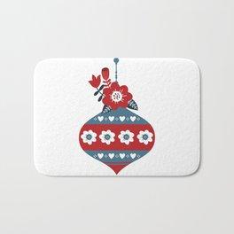 Scandinavian Christmas Ball 02 Bath Mat