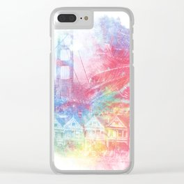 Double Rainbow Clear iPhone Case