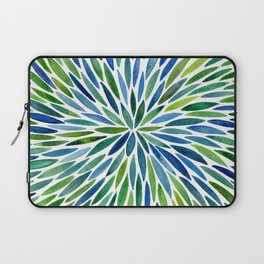 Watercolor Burst – Blue & Green Laptop Sleeve