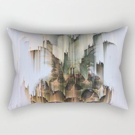 Glitch Pineapple Rectangular Pillow