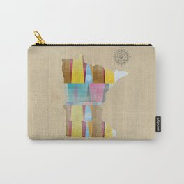 Minnesota state map  Carry-All Pouch