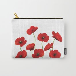 Poppies Field white background Carry-All Pouch