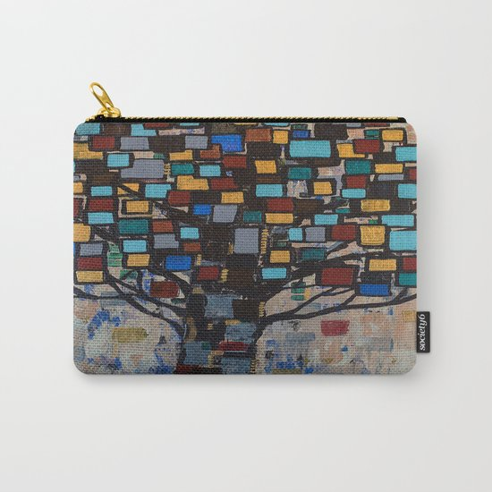 :: Stained Glass Tree :: Carry-All Pouch