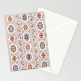 Boho Baby // Middle Eastern Metallic // Nana's Turkish Kilim Carpet in Copper & Gunmetal Gray Stationery Cards