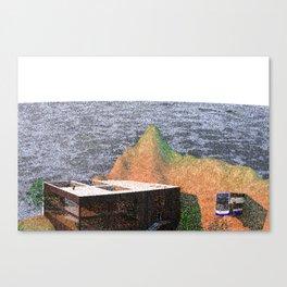 My 90's Pixel Island Canvas Print