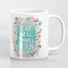 Eat Well, Travel Often Bouquet  Mug