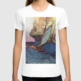 """""""Book of Pirates"""" Cover by Howard Pyle T-shirt"""