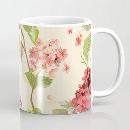 Fall Hydrangeas, Floral Print Coffee Mug