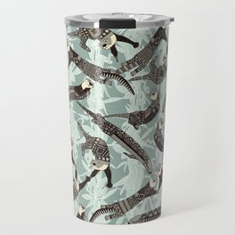 sea otters silver Travel Mug
