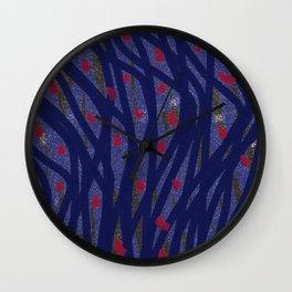 Dark Lines Wall Clock