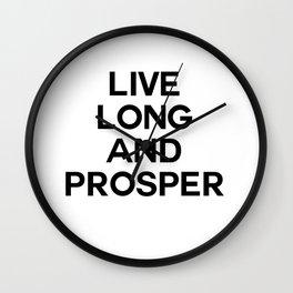 live long Wall Clock