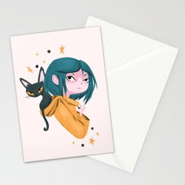 Twitchy, Witchy Girl Stationery Cards