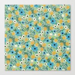 Luova - blue Canvas Print