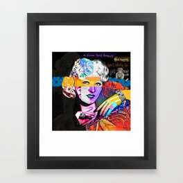 Mae West Collage Art Framed Art Print