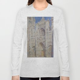"Claude Monet ""Rouen Cathedral The Portal (Sunlight)"" Long Sleeve T-shirt"