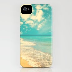 Waves of the sea (retro beach and blue sky) Slim Case iPhone (4, 4s)