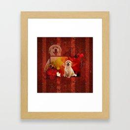 Sweet golden retriever Framed Art Print