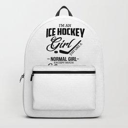 Ice Hockey Girl Cooler than Normal Girl Hockey Lover Backpack