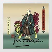 tolkien Canvas Prints featuring Samurai JRR Tolkien by QStar