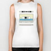 cassette Biker Tanks featuring Compact cassette by nvbr