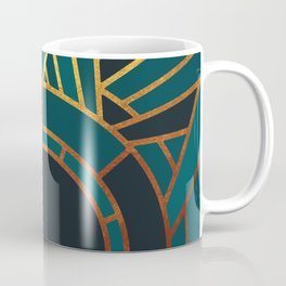 Art Deco Sunset In Teal Coffee Mug