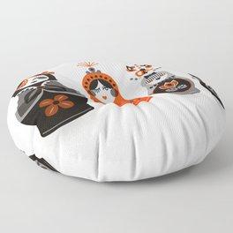 Russian Nesting Dolls – Red & Black Floor Pillow