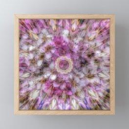 Floral fusion mandala Framed Mini Art Print