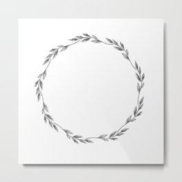 Herbal circle. Metal Print