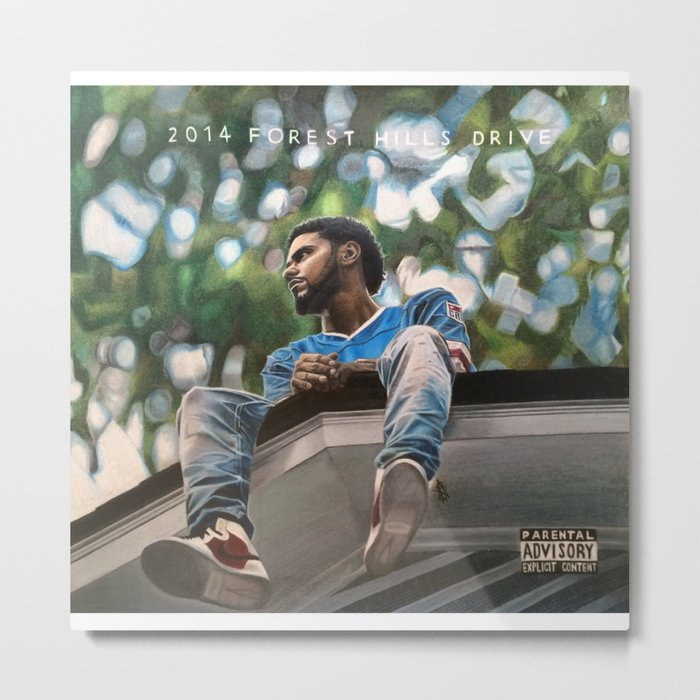 J.Cole 2014 Forest Hills Drive Drawing Metal Print