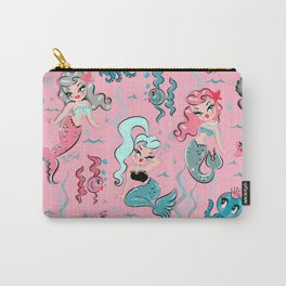 Babydoll Mermaids on Pink Carry-All Pouch