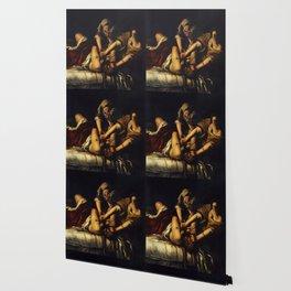 JUDITH BEHEADING HOLOFERNES - GENTILESCHI Wallpaper